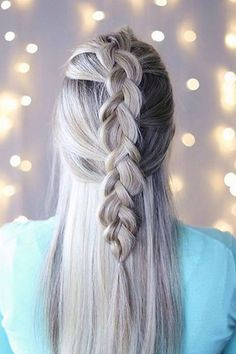 Half Updo Braid on the talented @twistmepretty who is wearing her custom-toned Ash Blonde #LuxyHairExtensions <3