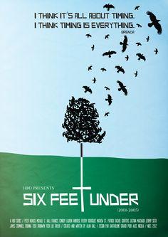 Six Feet Under (2001-2005) - Minimal TV Poster by Bartholome Girard