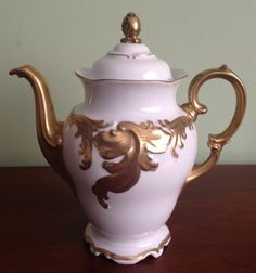 Wawel Polish porcelain china - 14ct.gold Teapot