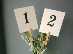 Mini clothespin clip table number holders