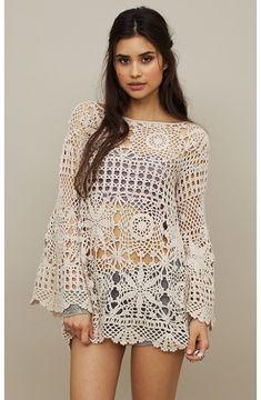THAIS CIBELE FASHION&ART: Vestindo crochet, o que vestir???