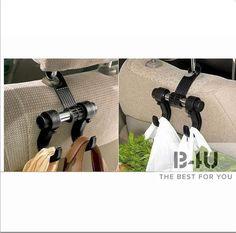 Fashion Style Jfbl Hot Sale Black Multipurpose Double Car Van Seat Back Hanger Organizer Hook Headrest Holder Robe Hooks