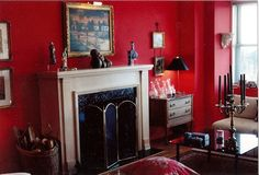 MY RED LIVING ROOM BACK IN NEW YORK