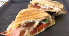 Panini jambon-tomate-mozzarella (vidéo)