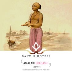 AMALAKI EKADASHI. 19th MARCH 2016 This ekadashi is observed on the eleventh day of the bright fortnight of the shukla paksha of the Hindu month of Phalgun. Devotees worship Parashuram the avatar of Lord Vishnu with fasts and the offering of the amalaki, the gooseberry fruit. It is an important festival at the Jagannath Temple in Puri, Orissa.