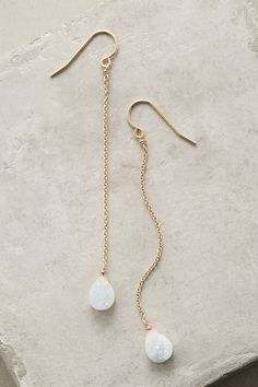 A pair of glittering gems elegantly suspended from single chains. Handmade in Hawaii by RueBelle.