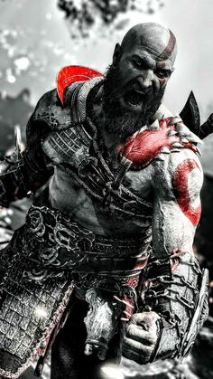 god of war Best Gaming Wallpapers, Joker Wallpapers, Wallpaper Wallpapers, Iphone Wallpaper, Arte Assassins Creed, God Of War Series, Kratos God Of War, War Tattoo, Character Wallpaper
