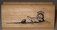 Kidstamps Rubber Stamp - Chris Conover - Otter Reading a Book