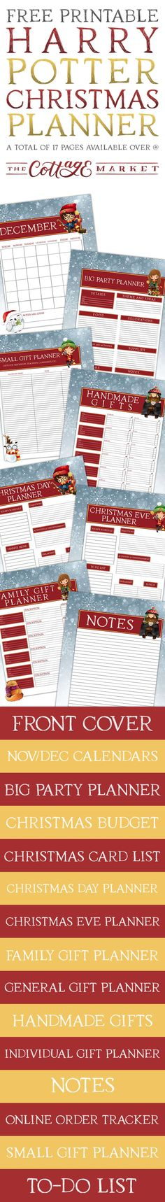 Free Printable Harry Potter Christmas Planner