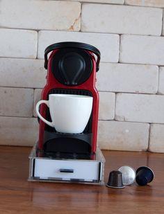 Tempered Nespresso Storage Drawer Holder For Capsules Coffee Pod For 21  Nespresso Capsules Drawer Elegant Option