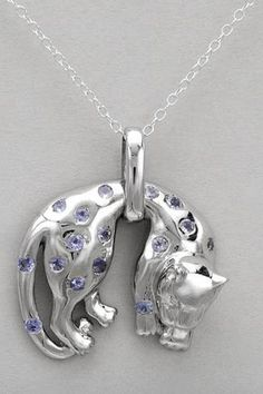 $37.50 - 0.75 CTW Tanzanite Sterling Silver Necklace