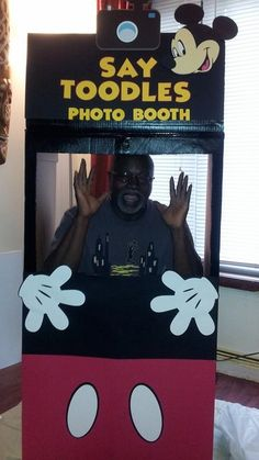 I made this Mickey Mouse Photo Booth for my upcoming birthday party for my grandson who will be turning 1 August 2 and I am planning the party So, I am trying to get everything big out of the way. My first one made and learned a lot on how I would have made it a little different next time. But, it turn out cute.