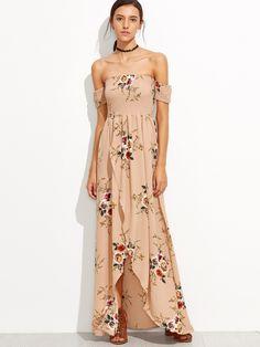 Shop Bardot Florals Shirred Tulip Hem Dress online. SheIn offers Bardot Florals Shirred Tulip Hem Dress & more to fit your fashionable needs.