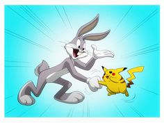 LOONEY TUNES: BUGS BUNNY and POKEMON by Jerome-K-Moore