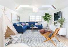 It's fresh and fun, light and bright and liveable. Love this home by Seattle-based  Heidi Caill...