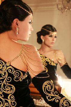 Algerian Karakou dress and jewelry