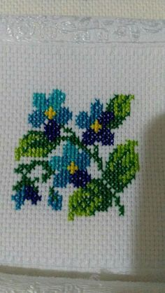 Cross-stitch panel work for mother's day, Cute Cross Stitch, Cross Stitch Rose, Cross Stitch Borders, Cross Stitch Flowers, Cross Stitch Designs, Cross Stitching, Cross Stitch Patterns, Herb Embroidery, Floral Embroidery Patterns