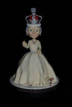 Queen Elizabeth  Diamond Jubilee Cake Dolly Varden by mags20_eb, via Flickr
