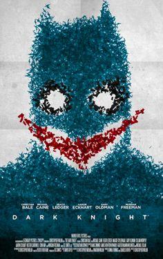 The Dark Knight (2008) ~ Minimal Movie Poster by Stefano Pellegrini ~ Tarantino Series #amusementphile