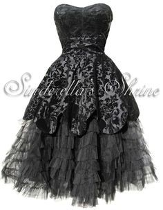 HELL BUNNY Black Victorian ~LaViNTaGe~ Steampunk Gothic Dress 6-20