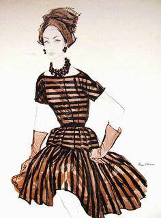 1960 Fashion Illustration, by Brian Stonehouse, read more @Pintucks