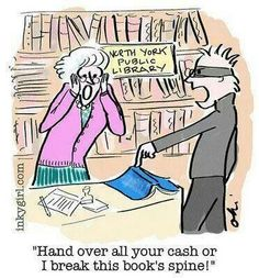 Hand over all your cash or I break this book's spine!