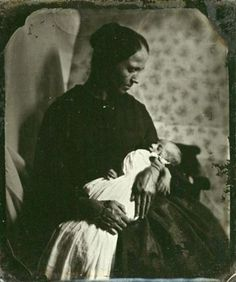 Circa 1860-80, an ambrotype portrait of a mother cradling her deceased child. Absolutely heart-rending, and all too common in the 19th century. Photographing the dead seems strange to us today, but it's not difficult to understand the impulse to preserve a life through an image in an era when death was so sudden and so ever-present. Via Historical Indulgences and Be-Hold Fine Photographs.