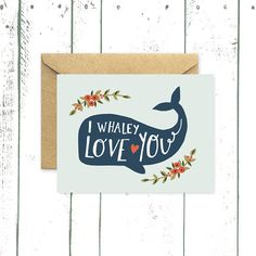 This card features a sperm whale illustration on front and has a blank interior for your own personalized note. -measures 4.25 x 5.5 inches (A2)