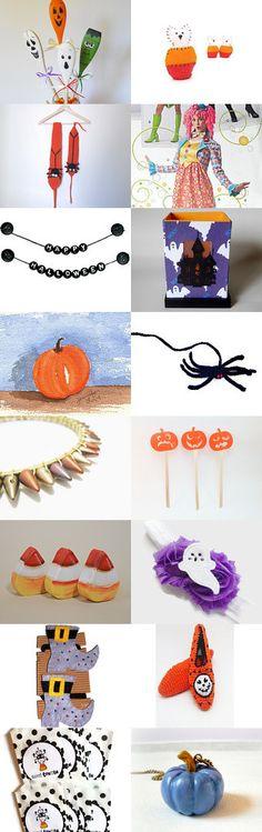 Happy Halloween by Kamara Larry on Etsy--Pinned with TreasuryPin.com