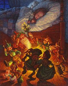 Scott Gustafson Christmas | ... holiday santa santa images and prints the night before christmas