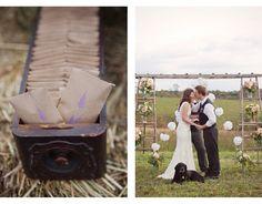 Sweet Violet Bride - http://sweetvioletbride.com/2012/04/handmade-country-chic-wedding-modern-romance/