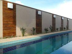 Fence Wall Design, Garden Wall Designs, Gate Design, Small Backyard Pools, Backyard Pool Designs, Piscina Diy, Compound Wall Design, Boundary Walls, Outdoor Dining