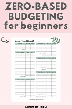 What is a zero-based budget? Zero-based budgeting is a simple and flexible way of budgeting where your income minus expenses equal zero. It's an effective way to get your money under control, pay down debt, and reach your savings goals. Includes a free zero-based budget template printable.
