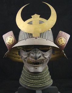 Greetings- For sale is an antique Japanese Kabuto helmet from the Edo period. Included is the Mempo and Maedate as pictured. I bought this about 3 or 4 years ago from a dealer and has been on display