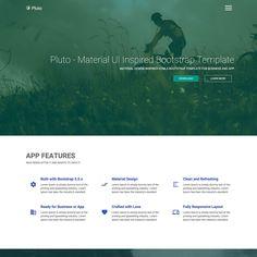 set of 9 templates for presentation slides. material design, Presentation templates