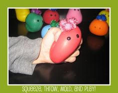 "'Wacky Sacks"" - play doh filled balloons!"