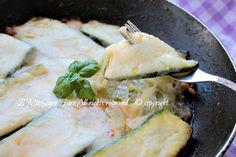 Parmigiana bianca zucchine in padella leggera e gustosa