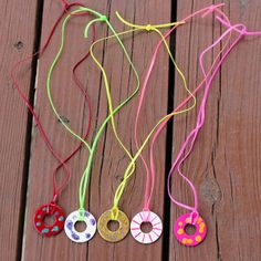 Washer Necklace for my 9 year old daughter to make.