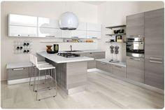 Abbinare il pavimento al rivestimento della cucina - Pavimento e cucina nelle nuances del grigio