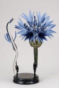 Centaurea Cyanus L. papier-mâché model.