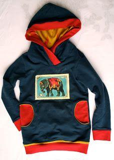 Hoodie met zakken. Zonder olifant en zo...