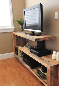 Rustic Modern TV Console
