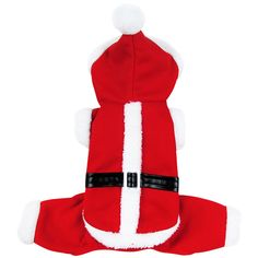 Santa Claus Dog Costume Christmas Pet Coat Products With Hat Puppy Dog Cat Supplies Outwear Clothes Red Black Belt Coats #Affiliate