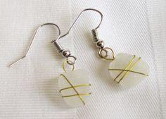super cute! sea glass earrings