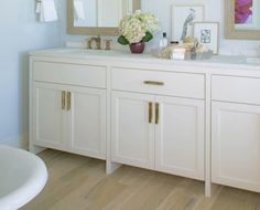 Change out your hardware to reflect your own style! Get more ideas for upgrading your builder grade at SwatchPop! Decorating Your Home, Interior Decorating, Interior Design, Builder Grade, Cabinets, Your Style, Hardware, Change, Bath