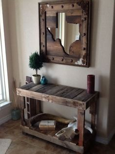 I'm not from Texas, must this mirror is very creative. It looks difficult to make, but would be nice in your home state, world map, or different states of where you met/married/are from. -SvH