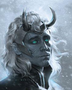 Frost Giant Loki variant. I wanted to make him a little different❄️ . . . #loki #lokivariant #lokiseries #frostgiant #lokilaufeyson #marvel… Wanda Marvel, Loki Marvel, Loki Thor, Tom Hiddleston Loki, Loki And Sigyn, Loki Laufeyson, Loki Aesthetic, Loki Wallpaper, Loki Art