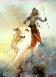 Nandi Avatar Lord Shiva represents all beings on Earth. This avatar of Lord Shiva is an indication towards it. : 19 Avatars of Lord Shiva Shiva Tandav, Shiva Art, Hindu Art, Hare Krishna, Tantra, Religion, Shiva Tattoo, Lord Shiva Painting, Shiva Wallpaper