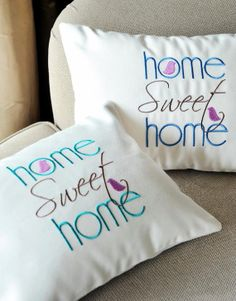 Home Sweet Homme  embroidery pillow by letsdecorateonline on Etsy, $21.90