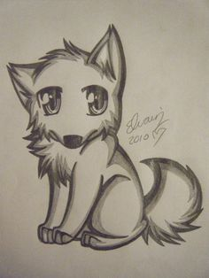 Drawings of animals pencil drawings of anime wolf drawing 4 by sea animal drawings cute . drawings of animals Cute Wolf Drawings, Pencil Drawings Of Animals, Easy Cartoon Drawings, Animal Sketches, Amazing Drawings, Easy Drawings, Drawings Of Wolves, Drawing Animals, Cute Sketches
